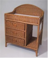 J Mason I2865 Wicker Changing Table in Pecan