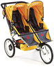 BOB ST0746 Ironman Duallie Sport Utility Twin Jogging Stroller, Yellow