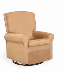 Shermag 37204.G8.0181 Peat Square Back Super Smooth Upholstered Glider/ Rocking Chair