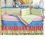 Hoohobbers Crib Bedding 4 pc Set, Cha Cha Cha
