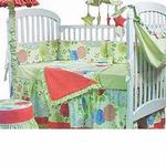 Hoohobbers Crib Bedding 4 pc Set, China Doll