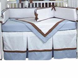 Hoohobbers Crib Bedding 4 pc Set, Classic Blue