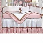 Hoohobbers Crib Bedding 4 pc Set, Classic Pink