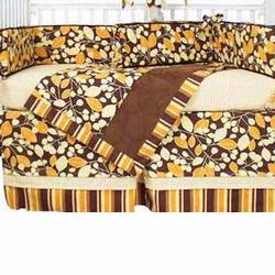 Hoohobbers Crib Bedding 4 pc Set, Cocoa Orange