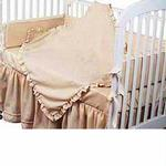 Hoohobbers Crib Bedding 4 pc Set, Ecru
