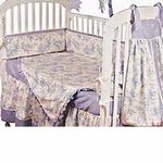 Hoohobbers Crib Bedding 4 pc Set, Etoile Blue