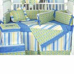 Hoohobbers Crib Bedding 4 pc Set, Go Fish