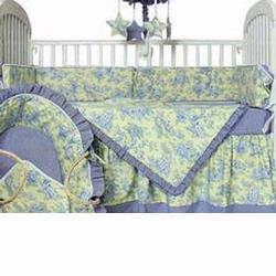 Hoohobbers Crib Bedding 4 pc Set, Etoile Lime