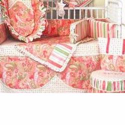 Hoohobbers Crib Bedding 4 pc Set, Paisley