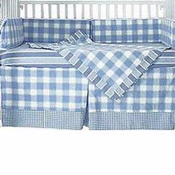 Hoohobbers Crib Bedding 4 pc Set, Preppy Boy