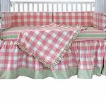 Hoohobbers Crib Bedding 4 pc Set, Preppy Girl