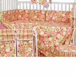 Hoohobbers Crib Bedding 4 pc Set, Retro Circles