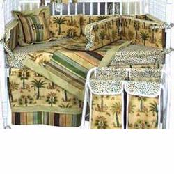 Hoohobbers Crib Bedding 4 pc Set, Sahara