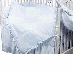 Hoohobbers Crib Bedding 4 pc Set, Sherbert Blue