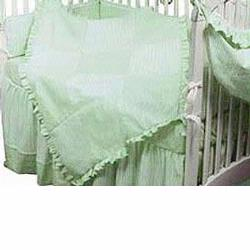 Hoohobbers Crib Bedding 4 pc Set, Sherbert Celery