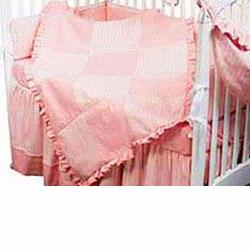 Hoohobbers Crib Bedding 4 pc Set, Sherbert Pink