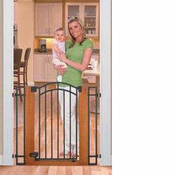 Summer Infant 07690 Stylish & Secure Extra Tall Wood & Metal Walk-Thru Gate