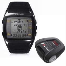 Polar FT60 90036409 with G1 GPS Heart Rate Monitor , Male Black with White Display