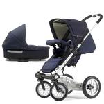 Mutsy 4Rider Light Newborn Stroller System - Team Navy