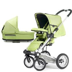 Mutsy 4Rider Light Newborn Stroller System - Team Lime