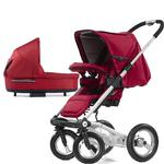 Mutsy 4Rider Single Spoke Newborn Stroller System - Team Red