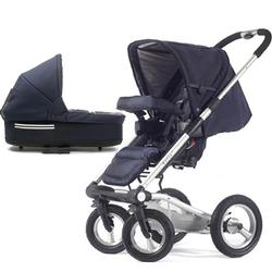 Mutsy 4Rider Single Spoke Newborn Stroller System - Team Navy
