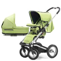 Mutsy 4Rider Single Spoke Newborn Stroller System - Team Lime