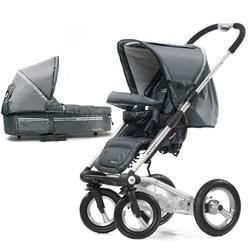 Mutsy 4Rider Single Spoke Newborn Stroller System - Active Black