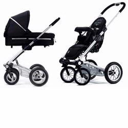 Mutsy SS06S-COBLACK-KIT 4Rider Newborn Stroller System,  College Black