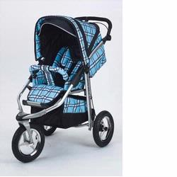 Baby Bling BBPB333P Metamorphosis Jogging Stroller, Papillian Blue (Soft Plaid Blue)