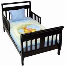 Dream On Me Sleigh Toddler Bed Black 642K