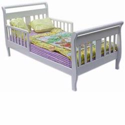 Dream On Me Sleigh Toddler Bed White 642W