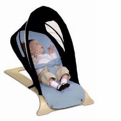 Svan S7122-1 Bouncer, Black-Baby Blue