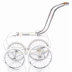 Inglesina AE05A3000 Balestrino Frame with Basket- Chrome/Ivory