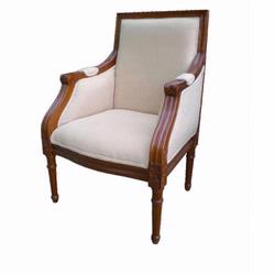 Giftmark 8300cbe Child's French Chantilly Style Arm Chair - Cherry Frame / Beige Fabric