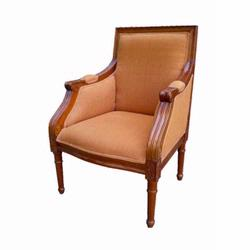 Giftmark 8300cbrn Child's French Chantilly Style Arm Chair - Cherry Frame / Brown Fabric