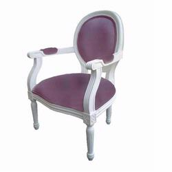 Giftmark 8315wl Child's French Style Medialum Arm Chair -  White Frame / Lavender Fabric
