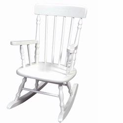 Giftmark 1410W Deluxe Child's Spindle Rocking Chair (White)