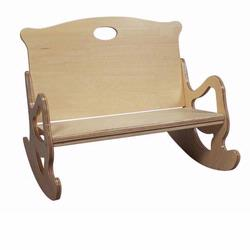 Giftmark 1466N Two Seat Puzzle Rocker (Natural)