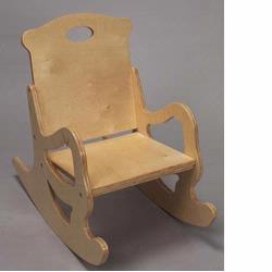 Giftmark 1467N Single Seat Puzzle Rocker (Natural)