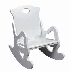 Giftmark 1467W Single Seat Puzzle Rocker (White)