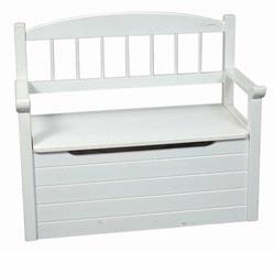 Giftmark 1625W Toy Chest With Spindle Deacon Bench - White