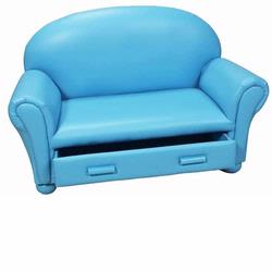 GiftMark 6700-B Chaise Lounge with Drawer, Blue