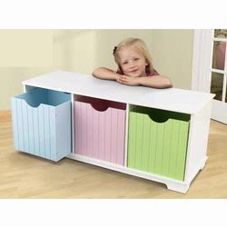 KidKraft 14565 Nantucket Pastel Storage Bench