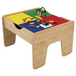 KidKraft 17576 2-In-1 Activity Table- Lego Compatible Blocks - Natural