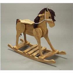 GiftMark 2000N Large Champion Wooden Rocking Horse, Natural