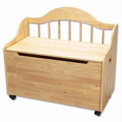 GiftMark 4025N Toy Chest / Deacon Bench - Natural