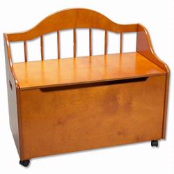 GiftMark 4025H Toy Chest / Deacon Bench - Honey