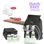 Ameda 17075KIT2, Combo #2 Purely Yours Breast Pump, with Back Pack, Two Free Comfortgel Soothing Breast Pads, and Flexishield Areola Stimulator