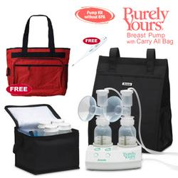 Ameda 17077KIT1, Purely Yours Breast Pump Combo# 1 with Carry All Bag, Free Omron Digital Thermometer, and Diaper Bag